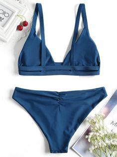 Ladder Cut Cami Ruched Bikini - Peacock Blue S Source by Summer Swimwear, Bikini Swimwear, Sexy Bikini, Bikini Top, Cute Swimsuits, Cute Bikinis, Women Swimsuits, Swimwear Fashion, Bikini Fashion