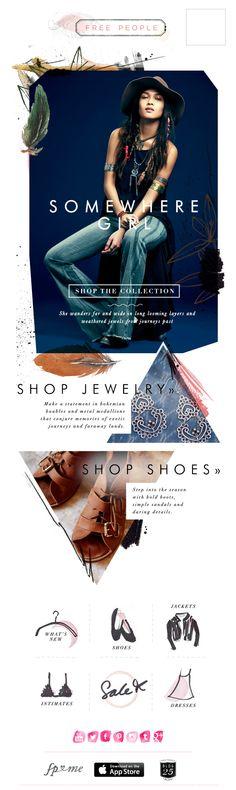 Fashion Magazine Layout Design Free People 57 New Ideas Newsletter Layout, Email Layout, Email Newsletter Design, E-mail Design, Layout Design, Print Design, Webdesign Inspiration, Email Design Inspiration, Email Marketing Design