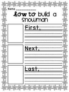 How to build a snowman how-to writing