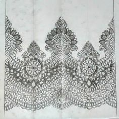 Border Embroidery Designs, Embroidery Motifs, Beaded Embroidery, Machine Embroidery, Paisley Background, Pattern Sketch, Pencil Design, Couture Embroidery, Textile Patterns