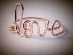 Love Ring.... 14kt gf rose gold, Bridesmaid gift, sister gift, birthday gift