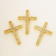 Gold Sideway Cross Bracelet Connector Cross With by BijiBijoux, https://www.etsy.com/listing/107743107/gold-sideway-cross-bracelet-connector