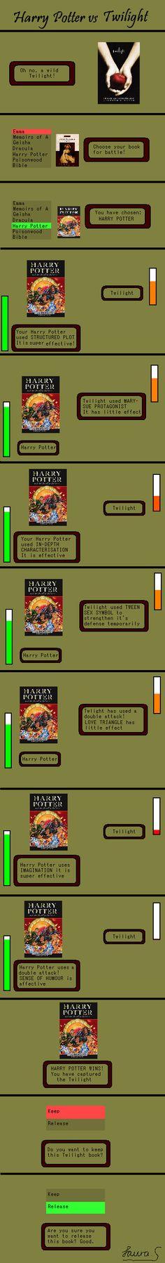 Harry Potter vs Twilight by OuranHarryPotterfan9 on deviantART