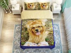 Cheap bedding set, Buy Quality printed bedding set directly from China king size Suppliers: Retriever Dogs print bedding set for adult home decor twin full queen king size pet comforter duvet cover bed clothes girl linen King Size Comforters, Siberian Husky Dog, Bedclothes, Dogs Golden Retriever, Dog Design, Home Textile, Duvet Cover Sets, Dog Lovers, Pets