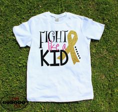Fight Like A Kid, childhood cancer awareness, girls cancer shirt, pediatric…