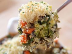 Broccoli Wild Rice Casserole - maybe with regular rice or quinoa?