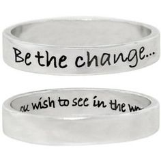 be the change ring - Google Search