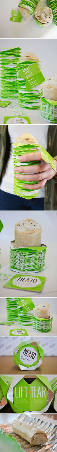 Neeto Burrito Student Packaging Concept #packaging