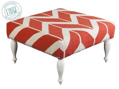 Surya Ottoman Fallon Coral and Ivory Footstool Accent Furniture, Living Room Furniture, Cream Furniture, Funky Furniture, Colorful Furniture, Outdoor Furniture, Bliss Home And Design, Square Ottoman, Cocktail Ottoman