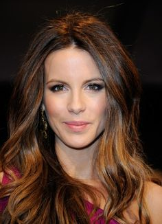 Kate Beckinsale's hair is always amazing! love the subtle ombre