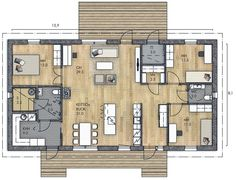 LATO 125 B - Kannustalo / Tää alkaa olla jo aika lähellä! Minimalist Home, Future House, House Plans, Sweet Home, Floor Plans, Exterior, Flooring, How To Plan, Houses