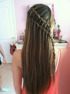 two waterfall braids
