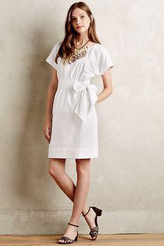 0dcaf1c572 Ribboned Poplin Dress  anthropologie Office Dresses