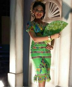 Beautiful dress with net embroidery