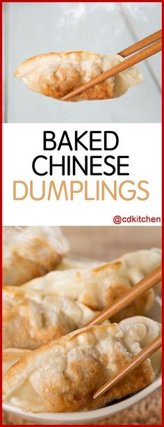 Baked Chinese Dumplings - Recipe is made with sweet-and-sour sauce, sausage, wat. - CDKitchen Recipes - Make up augen Wonton Appetizers, Chinese Appetizers, Wonton Recipes, Appetizer Dishes, Appetizer Recipes, Baking Recipes, Snack Recipes, Snacks, Italian Appetizers