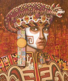 Pre-inca 1 by Jane Whiting Chrzanoska