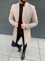Collection: Fall – Winter Product: Slim Fit Wool Long Coat Color Code: Beige Available Size: Coat Material: Wool, Polyester Machine Washable: No Fitting: Slim-Fit Drop: 6 Package Include: Coat Only Moda Indie, Best Casual Shirts, Winter Outfits, Casual Outfits, Mode Costume, Long Wool Coat, Mens Fashion Suits, Fashion Belts, Men's Fashion