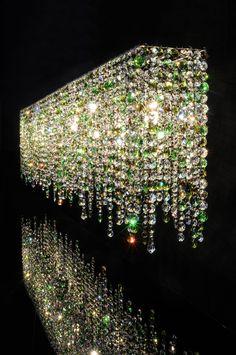 Linea crystal chandelier #Manooi #Chandelier #CrystalChandelier #Design #Lighting #Linea #luxury #furniture