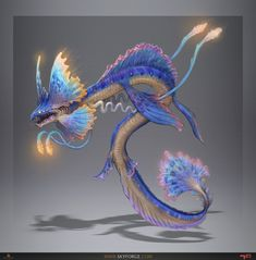 Skyforge is a highly-stylized MMORPG featuring exciting dynamic combat inspired by console action games, where players could become mighty Gods. Cute Fantasy Creatures, Mythical Creatures Art, Alien Creatures, Mythological Creatures, Magical Creatures, Alien Concept Art, Creature Concept Art, Creature Design, Fantasy Kunst