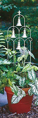 H Potter Small Bell Trellis [Lawn & Patio] - Modern Tomato Trellis, Vine Trellis, Garden Trellis, Garden Planters, Metal Trellis, Outdoor Planters, Natural Stone Wall, Garden Entrance, Metal Yard Art
