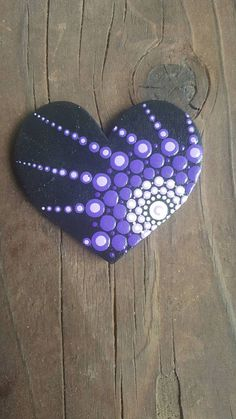 Acrylic painted wood magnets. Beautiful purple trio, great gift idea or home decor