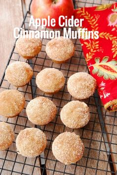 This smells like fall baking! Our favorite. Apple Cider Cinnamon Muffins #BabyCenterBlog