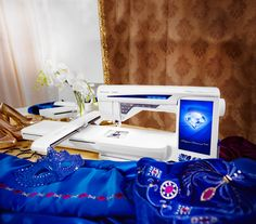 Behind beuty lies brilliance. Our DESIGNER DIAMOND Royale™ sewing and embroidery machine delivers brilliant results. It's completely intuitive and includes innovations exclusively found on this machine. What's not to love?