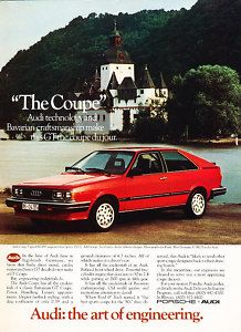 1982 Audi GT ad