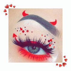 Makeup Eye Looks, Cat Makeup, Eye Makeup Art, Disney Eye Makeup, Cute Halloween Makeup, Halloween Looks, Halloween Ideas, Creepy Halloween, Whimsical Halloween