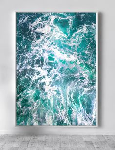 Blue Abstract Canvas Large XXL Seascape Extra Wall Art Teal Huge Livingroom Decor Home
