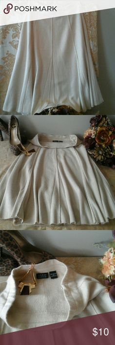 "Pretty flair Skirt👠 Good  used condition,  pre-loved, nice flow, 28"" elastic waist (with room) length 26"", comfortable wear, 100% acrylic. 👠 Joyce Leslie Skirts Midi"