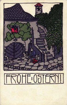 192. Josef Divéky, Wiener Werkstätte postcard