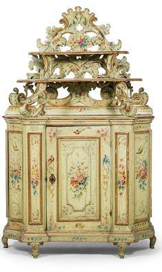 Frivolous Fabulous - Italian Trousseau Cabinet 1800 Frivolous Fabulous Trousseau