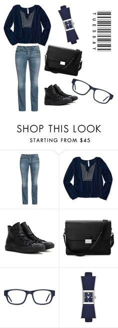 """""""Tuesday"""" by imbeautifullikeme ❤ liked on Polyvore featuring Silver Jeans Co., Aéropostale, Converse, Aspinal of London, GlassesUSA and Kate Spade"""