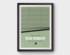 Rear Window   movie poster film poster minimalist movie