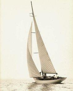 Stunning #sailing boat under sail.