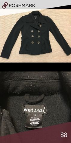 Wet Seal Black Peacoat Normal wear, missing tie waist Size Small  Open to reasonable offers Wet Seal Jackets & Coats Pea Coats