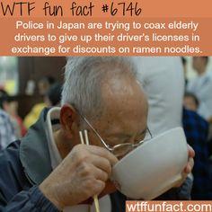 Don't drive, eat noodles- WTF fun fact