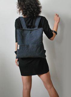 Convertible chic Backpack Lightweight messenger bag Corduroy
