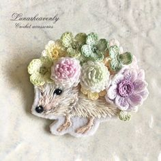 Watch The Video Splendid Crochet a Puff Flower Ideas. Phenomenal Crochet a Puff Flower Ideas. Crochet Stitches, Embroidery Stitches, Embroidery Patterns, Crochet Patterns, Crochet Brooch, Beaded Brooch, Crochet Puff Flower, Crochet Flowers, Beaded Jewelry Patterns
