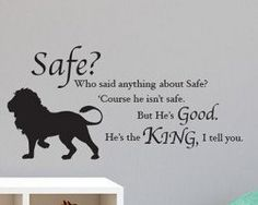 Chronicles of Narnia C.S. Lewis Quo te Aslan Safe? Lion Silhouette ...