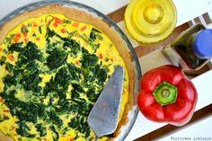 Pozytywne żywienie - dietetyka od przyjemnej strony: Lekka tarta ze szpinakiem i papryką - wersja light