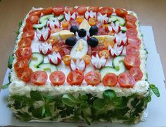W kuchni Zouuzy: Tort kanapkowy - Smörgåstårta