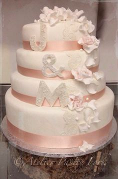 Stunning Wedding cake Tarta de boda Hochzeitstorte by Atelier Pastry Fork