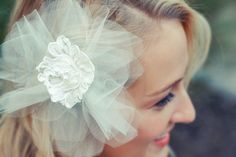 Haley Flower tulle with alencon lace and pearls - Jaclyn Jordan New York
