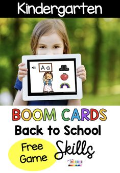 FREE Boom Cards for kindergarten – alphabet matching capital and lowercase letters – numbers and counting – phonemic awareness – rhyming games – onset and rhyme blending – back to school kindergarten resources for distance learning – digital task cards for kids – first week of school Alphabet Games For Kindergarten, Number Games Preschool, Kindergarten First Week, Welcome To Kindergarten, Welcome To School, Kindergarten Freebies, Kindergarten Centers, Kindergarten Learning, Rhyming Games