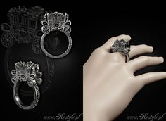 Carriage ring designed by me for www.Restyle.pl http://www.restyle.pl/product-eng-1084-GOTHIC-CARRIAGE-3D-ring-gothic-lolita-jewellery-fairytales.html  #goth #gothic #gothiclolita #lolita #fairytale #cinderella #ring #lolitafashion #gothicfashion #restyle #restylepl #euflonica #jewelry #fashion #gothicjewelry #gothjewelry #darkjewelry #horrorjewelry