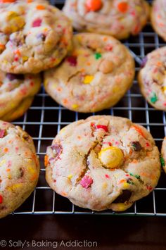 Soft-Baked Peanut Butter M&M Cookies with sprinkles!