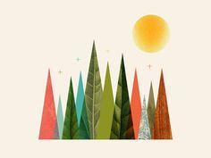 Josh Warren  #vector #abstract #gradient #color #illustration #lettering #typography #identity #hero