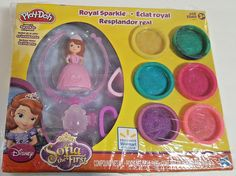 Disney Sparkle Play Doh Sofia The First Royal Sparkle WALMART EXCLUSIVE  #playdoh